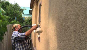 Штукатурка бетонных стен метод набрызга