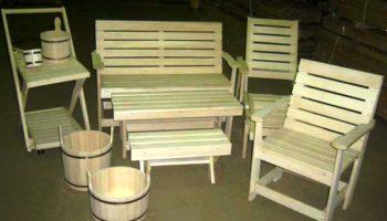 Деревянная мебель для бани. Хохолко Р.Г.