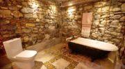 Природный камень — стильный материал в интерьере ванной комнаты