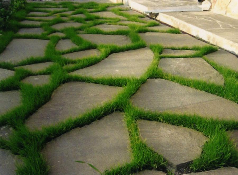 Природный камень для дорожек в саду