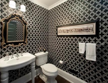 Обои для ванной комнаты как выбрать