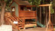 Детские площадки из дерева – пилим, строгаем, строим