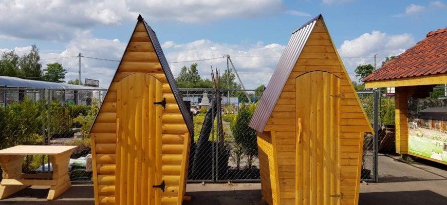 Дачные туалеты в Полоцке, ручной работы.