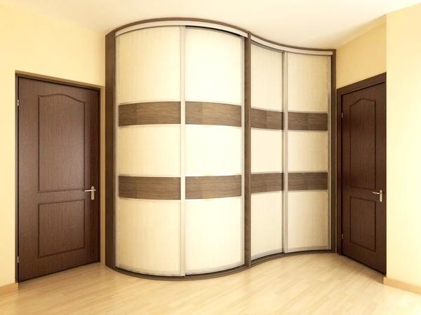 Радиусные шкафы-купе в спальню