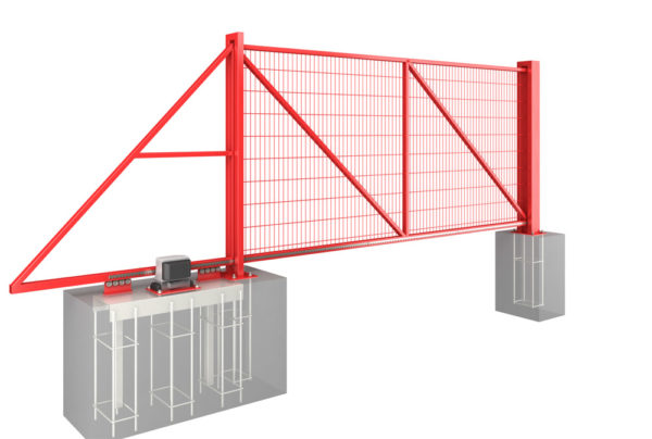 Откатные ворота: преимущества, конструкция, разновидности