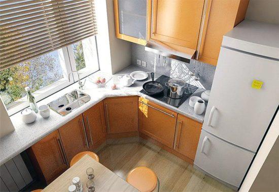 Перепланировка маленькой кухни