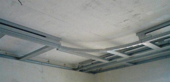 Монтаж подвесного потолка из гипсокартона