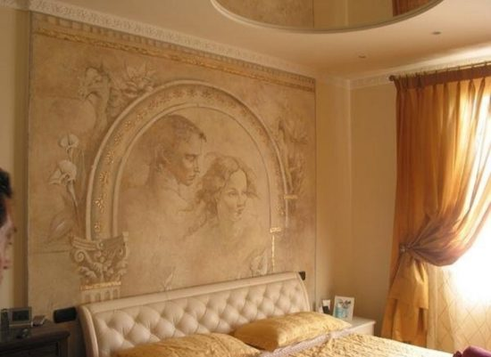 Венецианская декоративная штукатурка в интерьере квартиры