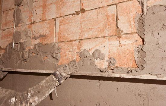 Штукатурка стены по кирпичной кладке