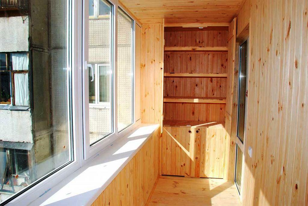 Как обшить балкон вагонкой изнутри