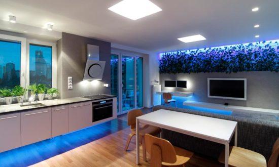 Использование светодиодной ленты для оформления интерьера