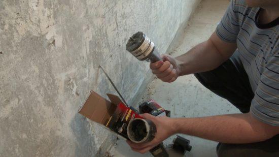 Как просверлить бетонную стену – важный вопрос для мастера