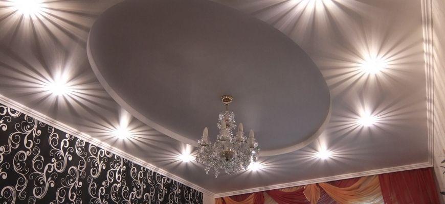Потолок с центральной люстрой