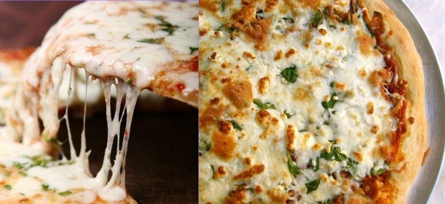 пицца с фета сыром