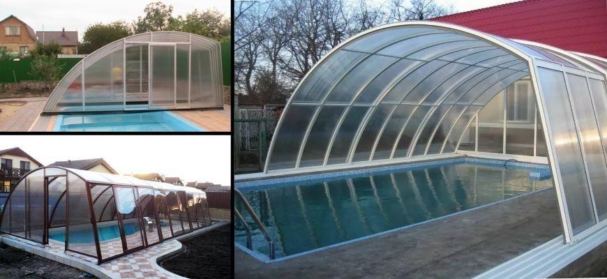 павильоны над бассейном